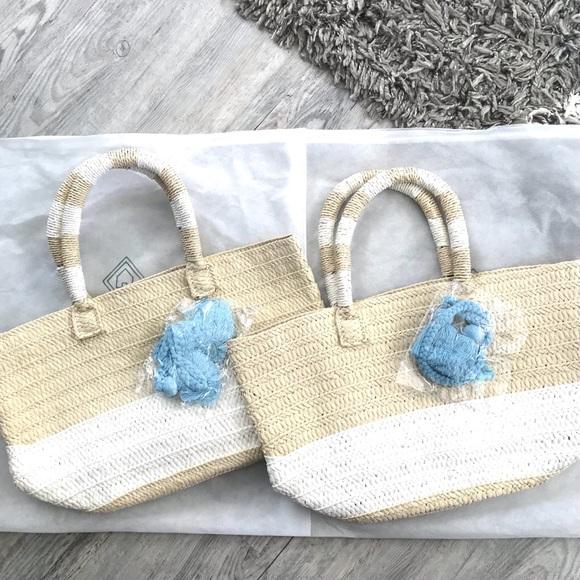Altru straw tote & dust bag